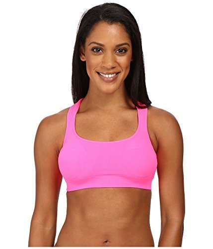 Jockey Active Women's Performance Push-Up Seamless Sports Bra Knockout Pink Sports Bra XL