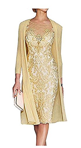 of Jacket Mother Mother The Dress and Wedding Yellow Bride Dresses for UqwRgU0