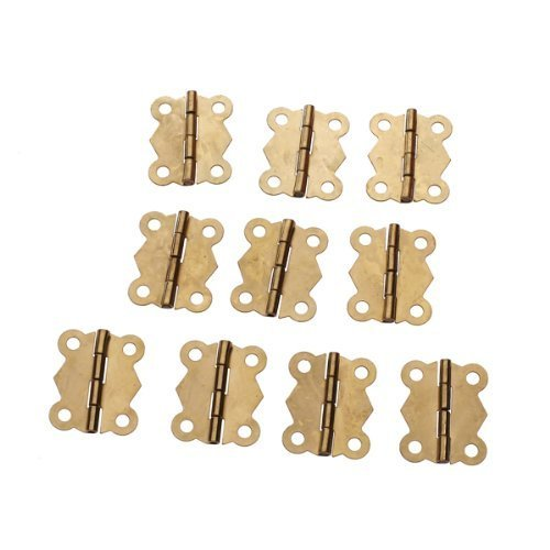 Yeah67886 Mini Iron Butterfly Hinges Cabinet Drawer Door Butt Hinge Accessories