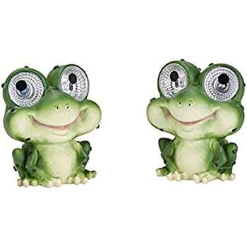Smart Solar 3590WRM2 Garden Pal Frog Accent Light,2 Pack, With Integral Solar Panel That Charges the Included Ni-MH Battery During the Day