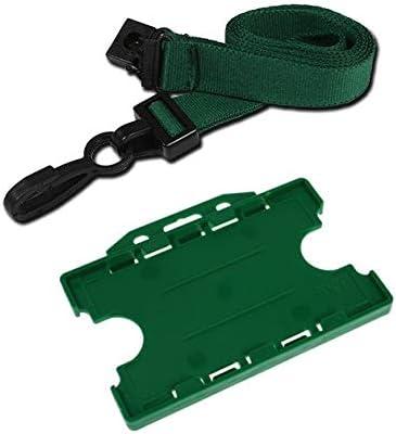 Schlüsselband mit Kunststoffclip, 15 mm, Grün, 3 Stück