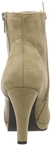 La Strada Sandfarbene Suède-Look Stiefeletten - botas de material sintético mujer beige - Beige (2207 - micro beige)
