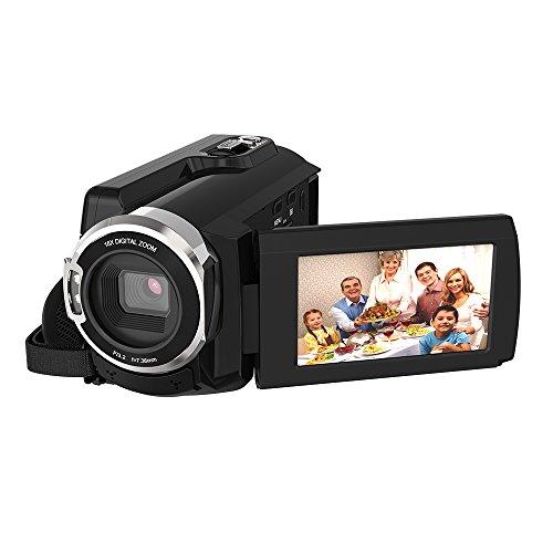 Andoer HDV-534K 디지탈 4K 비디오 카메라 48MP WiFi 1080P 풀HD 3인치 터치 스크린 야간 촬영 가능 지지16배 줌 얼굴 검출 손떨림 보정 Novatek 96660 일본어 설명서
