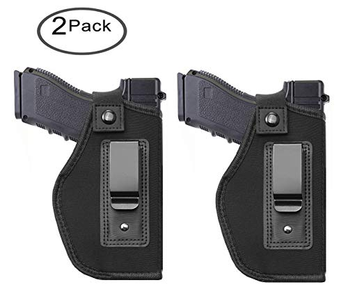 Tenako Inside IWB Holster Waistband Fits All Firearms S&W M&P Shield 9/40 1911 Taurus PT111 G2 Sig Sauer Glock 17 19 26 27 42 43 Springfield XD XDS (9mm Pistol Best For Concealed Carry)