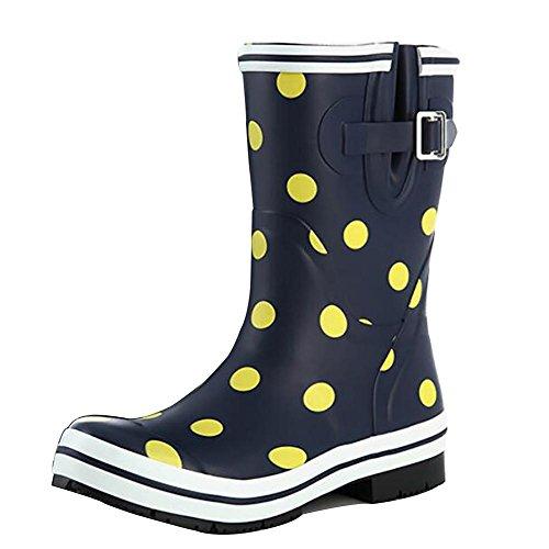 Natural Boot Tube Puddles SYYUN Retro Slip Women's Rain 2 Rubber q788IxC6w