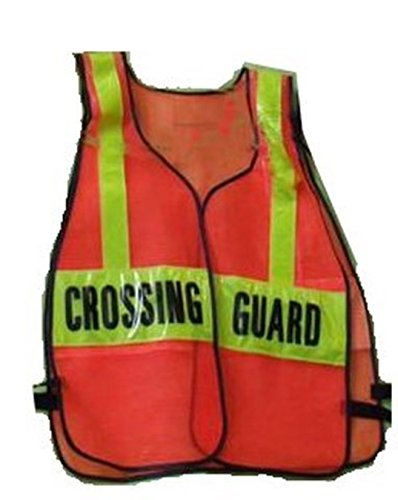 SCHOOL CROSSING GUARD Orange REFLECTIVE Traffic Safety Vest One Size Fits - Crossing Vests Guard