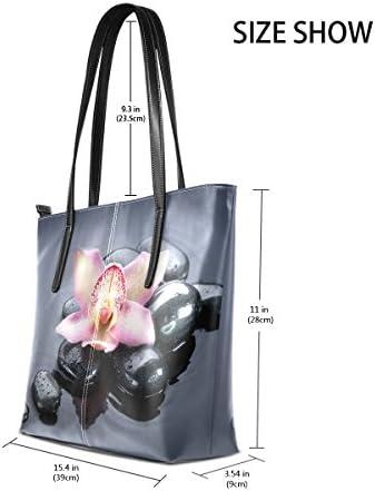 COOSUN Spa Zen Pierres PU Sac à bandoulière en Cuir et Sacs à Main Bourse Sac fourre-Tout pour Les Femmes Moyen Multicolore