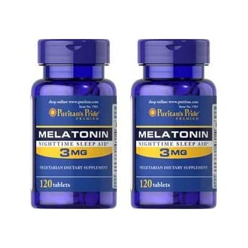 Melatonin 3 Mg / 120 Tablets 2 Pack