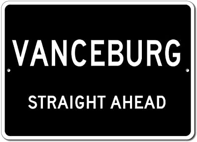 Custom Aluminum Sign - VANCEBURG, KENTUCKY US City Straight Ahead Sign