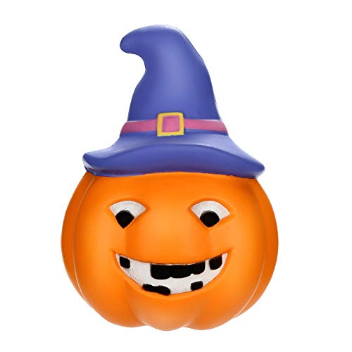 Luminous Pumpkin Squeeze Halloween Educational Toy - Pausseo Kawaii Hop Props Scented Slow Rising Squeezable Dolls - Ideal for Stress Reliever & Anxiety Relief,Special Needs,Autism,Disorders & More for $<!--$5.83-->