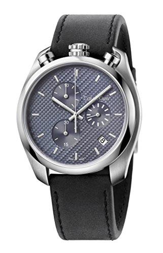 CALVIN KLEIN K6Z371C4 Mens CONTROL Chronograph Swiss Made Watch w/ Date - Calvin Klein Swiss Made
