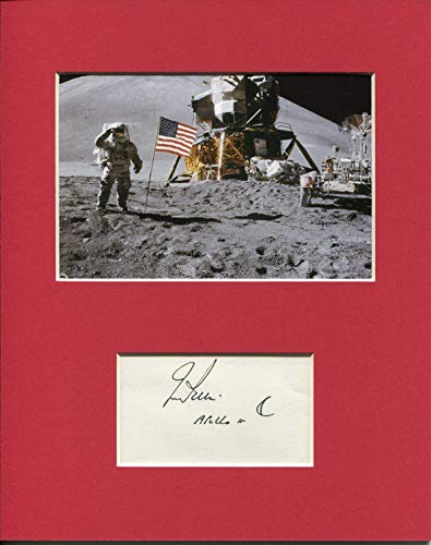 (James Jim Irwin NASA Astronaut Apollo Moonwalker Signed Autograph Photo Display - Autographed NFL Photos)
