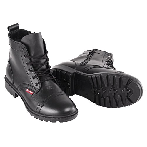 (BURGAN 842 Short All Leather Desert Boot (Unisex) 37 (US Mens 5.5 / Ladies 6.5), Black)