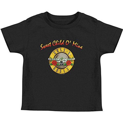 Guns N' Roses - Sweet Child Toddler T-Shirt - 3T Black - Kid Rock Merchandise