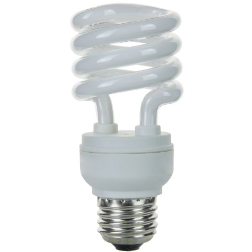 Sunlite SMS13F/E/30K 13 Watt Super Mini Spiral Energy Star Certified CFL Light Bulb Medium Base Warm -