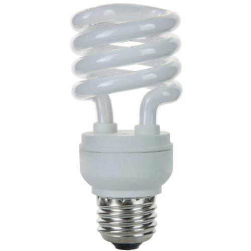 Mdt Bulb Lamp Light (Sunlite SMS13F/E/30K 13 Watt Super Mini Spiral Energy Star Certified CFL Light Bulb Medium Base Warm White)