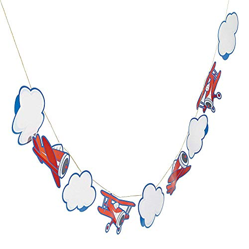 Fun Express Up & Away Airplane Birthday Garland - 7 ft