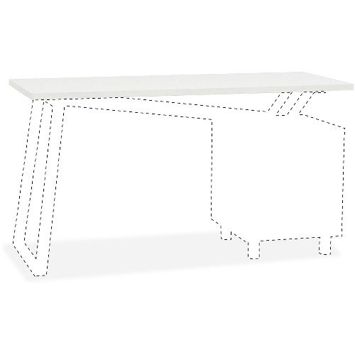 Mayline Glass Top for 2-Drawer Pedestal V-Desk Base - 0.31in. Table Top Thickness x 55in. Width x 23.50in. Depth - ()