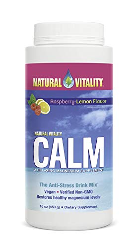 Natural Vitality Calm, The Anti-Stress Drink Mix, Magnesium Supplement Powder, Raspberry Lemon - 16 ounce