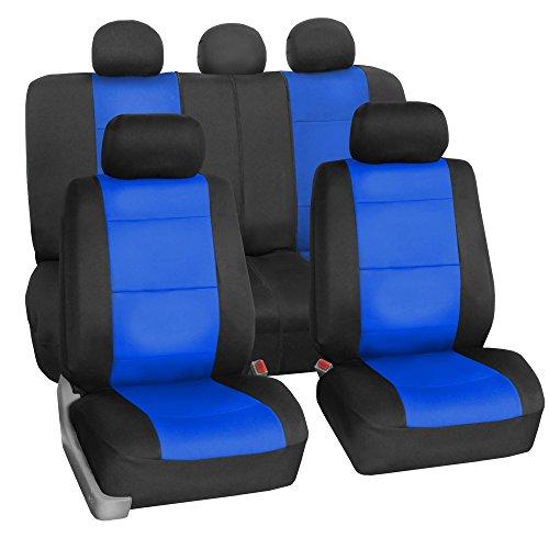 - FH GROUP FH-FB083115 Neoprene Waterproof Car Seat Covers Airbag Ready & Rear Split Blue- Fit Most Car, Truck, Suv, or Van