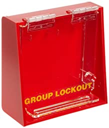 Brady Acrylic Plastic Wall-Mount Group Lock Box for Lockout/Tagout, Small, 6\