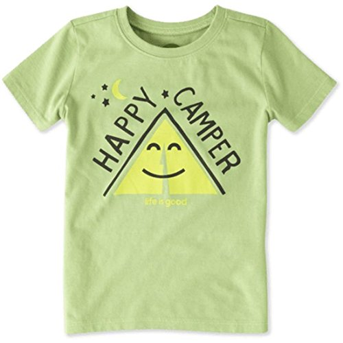 Life is good Happy Camper Tent Crusher Tee (Toddler), Fern Green, 4T - Inspirational Adult Tshirt