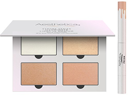 Aesthetica Strobe Series Highlighter Kit – 4 Powders & 1 Liquid Highlighter (Illuminate)