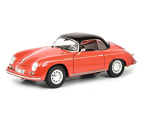 Porsche 356 A Carrera Speedster Red with Black Top 70 Years of Porsche Sports Cars 1948-2018
