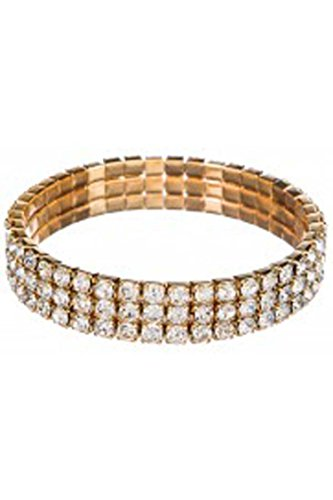 Triple Tier Stretch Bracelets - Clear Swarovsky Crystals