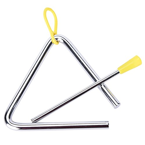 buytra music triangle instrument set with striker for kids