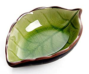 Amazon Com Aexge Appetizer Plates Ceramic Leaf Shape