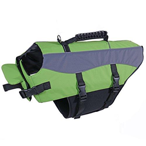 Speedy Pet Dog Life Jacket Vest Safety Swimsuit Pet Life Preserver with Reflective Stripes 4XL For Sale