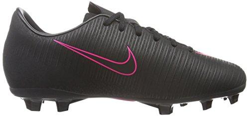Nike Jr Mercurial Vapor Xi Fg, Botas de Fútbol para Niños Schwarz (Schwarz/Schwarz/Pink)