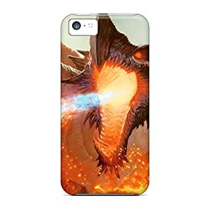 Durable Case For The Iphone 5c- Eco-friendly Retail Packaging(dragon Burn)