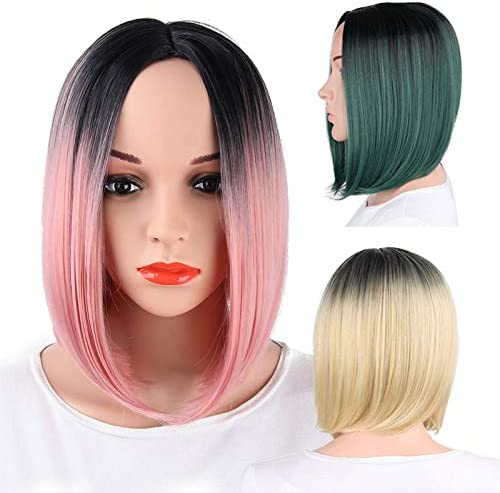 CXQ Europa y América peluca tinte para el cabello corto ola ...