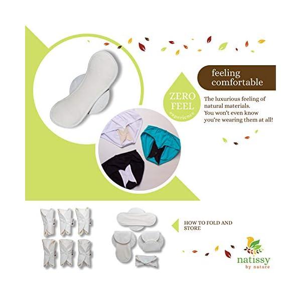 Assorbenti lavabili mestruale di cotone, in pacchetto da 6 pezzi (di taglia S e M), PRODOTTI IN EU; assorbenti igienici… 4 spesavip