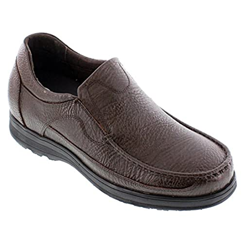 CALTO - G1823-3 Inches Taller - Height Increasing Elevator Shoes - Dark Brown Slip-on Lightweight