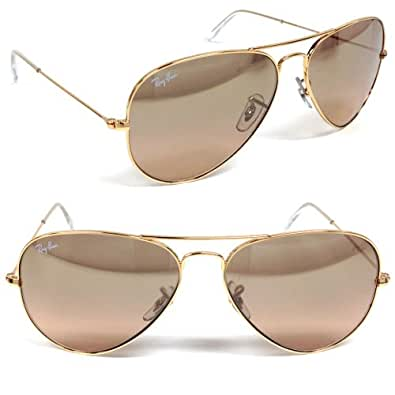 Amazon.com: Ray-Ban RB 3025 001/3E Aviator Large Metal