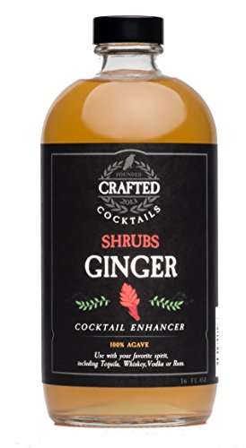 Crafted Cocktails Ginger Shrubs Cocktail Enhancer, Soda Flavoring or Culinary Ingredient, 2 Counts
