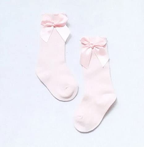 Baby Toddler Girls Bowknot Stocking Cotton Knee High Leg Warmer Sock