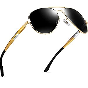 ATTCL Men's Hot Classic Aviator Driving Polarized Sunglasses For Men Women 16695goldgray