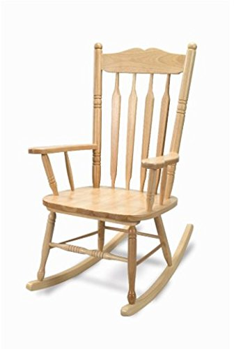 (Whitney Brothers WB5536 Adult Rocking Chair, Natural UV)