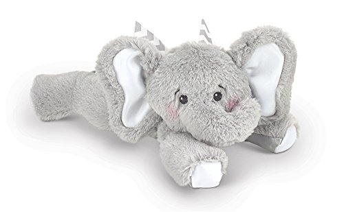 (Bearington Baby Spout Plush Stuffed Animal Gray Elephant with Rattle, 8 inches)