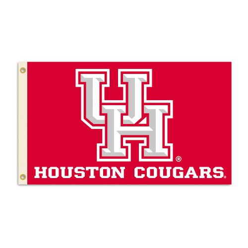 NCAA Houston Cougars 3x5 Logo Flag with Grommets -