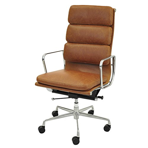 Chair Heights Pacific Leather (New Pacific Direct 6900003-VT Chandel High Back Office Chair Furniture, Vintage Tawny)