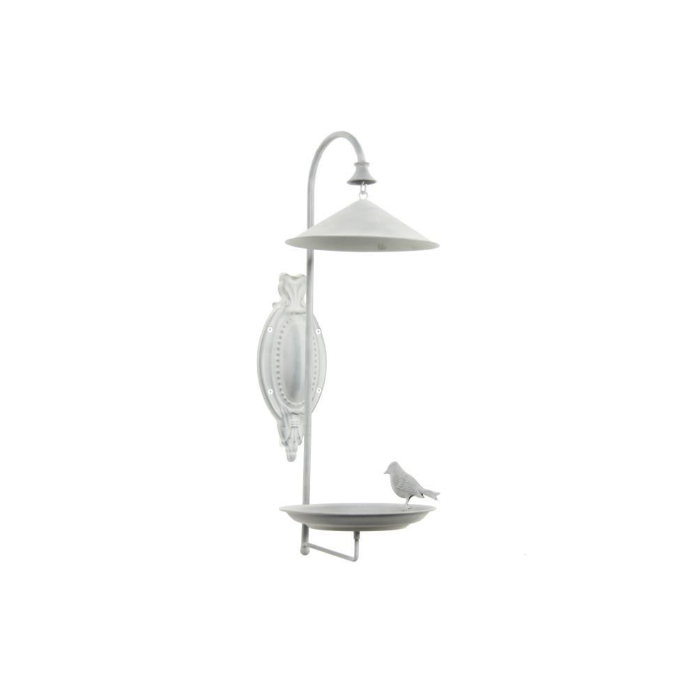 Decostar Vogeltränke Ewald, Metall, Grau, 55x20cm, zur Wandmontage WA