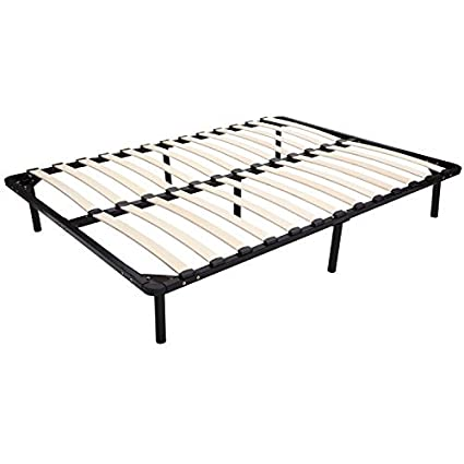 Amazon.com: HOMCOM Full Size Torsion Arched Wood Slat Platform Bed ...