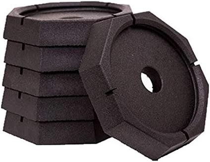 Snappad Xtra Permanently Attached Rv Leveling Jack Pad For 9 Inch Round Landing Feet 6 Pack