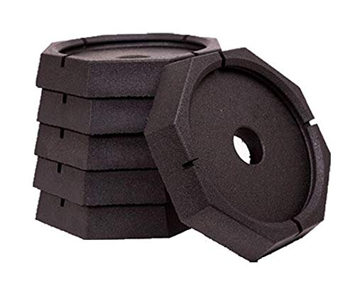 SnapPad Xtra Permanently Attached RV Leveling Jack Pad for 9 inch Round Landing Feet (6-Pack)