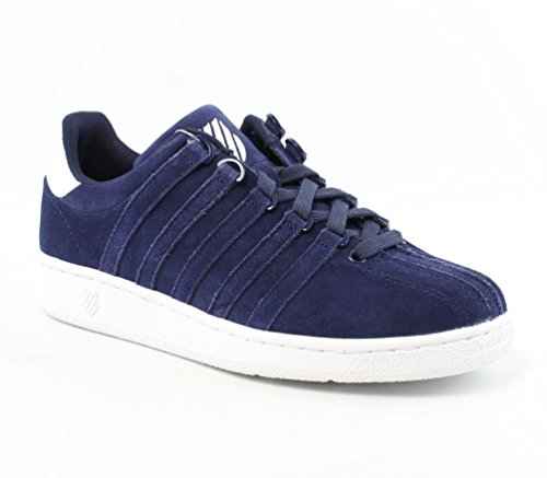 K-Swiss Men's Classic VN Suede  Shoe, Navy/White, 7 M US
